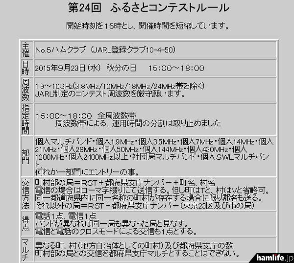 「第24回ふるさとコンテスト」の規約(一部抜粋)