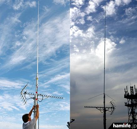 常総市役所の屋上に設置された、第一電波工業のFM送信アンテナ(同社提供)