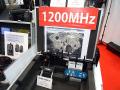 Catch Me株式会社のブースでは、1200MHz帯を利用したデジタルワイヤレスシステムのサポート機器を多数展示