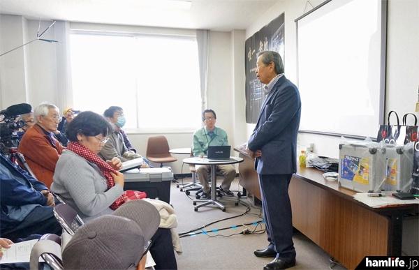 アイコム創業者で会長の井上徳造氏(JA3FA)による「IC-7850 誕生秘話」は特に注目度が高かった