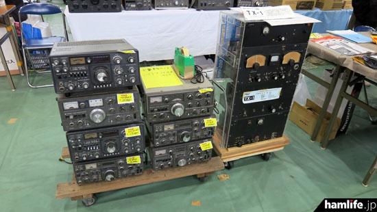 TS-520X/TS-820S/TS-830S/FT-101Z/FT-101ZDなどの中古を販売。トリオの昭和29年製送信機、TX-1も展示された(ハムセンター長崎)