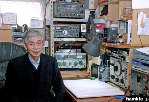 JA1AMH 高田継男氏(2011年撮影、写真提供:三才ブックス「ラジオライフ」編集部)