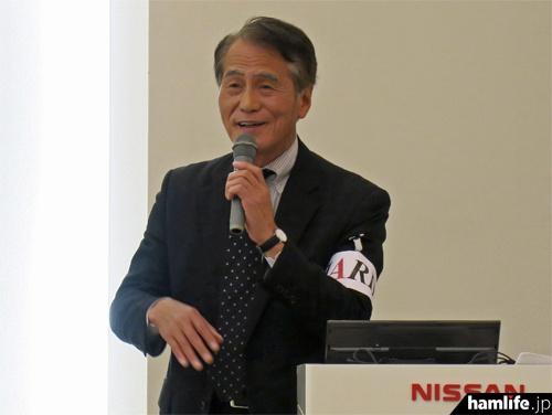 「第15回西日本ハムフェア-」で講演する、JARDの坂本専務理事