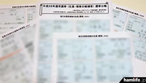公開された選挙公報(PDFをプリントし、画像加工)