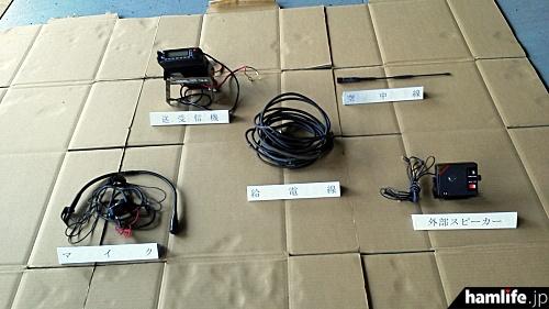 被疑者が使用していた無線設備(報道資料から)