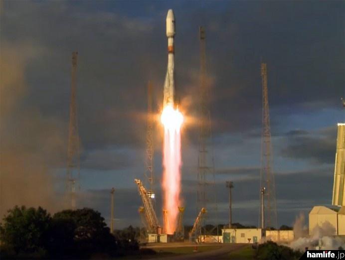 ソユーズロケットVS-14の打ち上げ風景(写真(C)ESA)