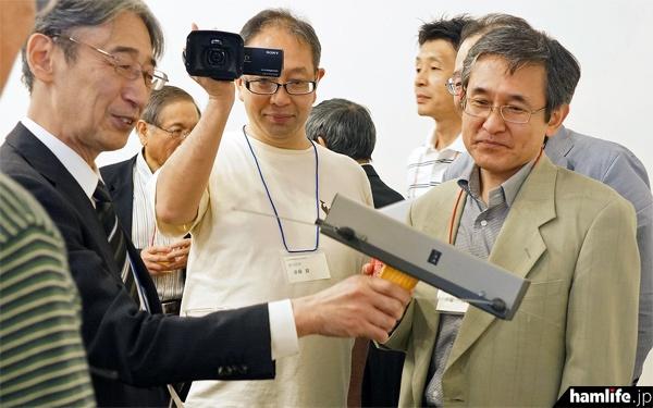 フォックステーリング用受信機「FRX-2001」を設計した、元・ミズホ通信の技術者も出席