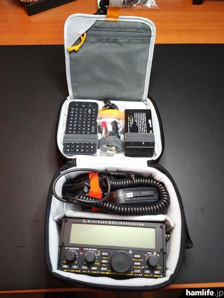今回はキャリングケース「CS40」と「CS60」を同時に発売。「CS40」はKX2本体と、そのほかの小物が収納できるほか、「CS60」はさらにパドルやアンテナ、予備の電池パックなど十分なスペースを確保している