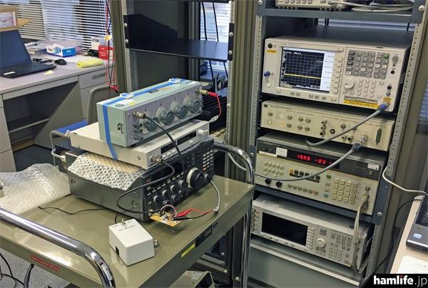 JARDでスタートしたHF固定機のスプリアス実測作業の模様