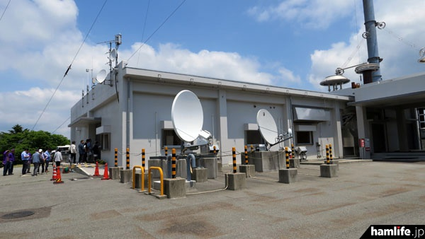 「おおたかどや山標準電波送信所」の局舎