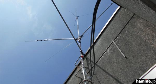 会場にからはJA7YRL/7が運用を行った。これは仮設されたアンテナの模様