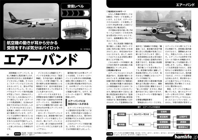 「おもしろ無線受信ガイド Ver.17」の記事サンプル(エアーバンド)