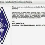 <クーデター未遂事件>「トルコ共和国内にある全アマチュア無線局の免許取り消し」の情報が一部で流れる