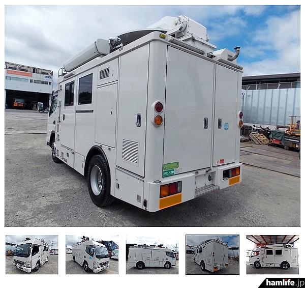 さすが元NHKで使用していたと思わる車両だけあって、装備類も充実している(ヤフオクの画面から)