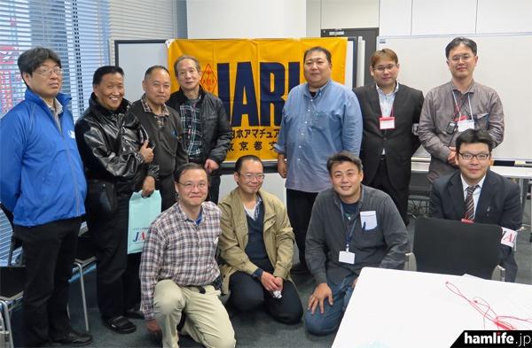 電子工作教室を行ったJARL東京都支部のスタッフとJARD関係者