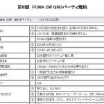 <一昨年から終了時間が21時に変更>福島CW愛好会(FCWA)、12月3日(土)12時から「第8回FCWA CW QSOパーティー」開催