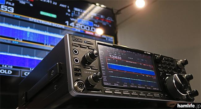 「アイコム本社アマチュア無線フェスティバル」で展示されたIC-7610動作サンプル機