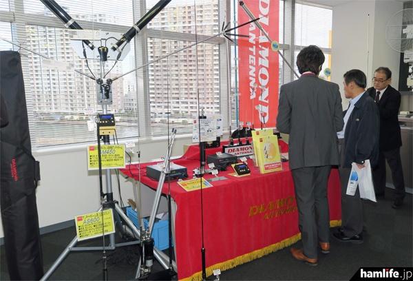 第一電波工業の製品展示コーナー