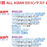 結果発表!一般社団法人 日本アマチュア無線連盟(JARL)主催、「第57回 ALL ASIAN DXコンテスト(電信/電話部門)」
